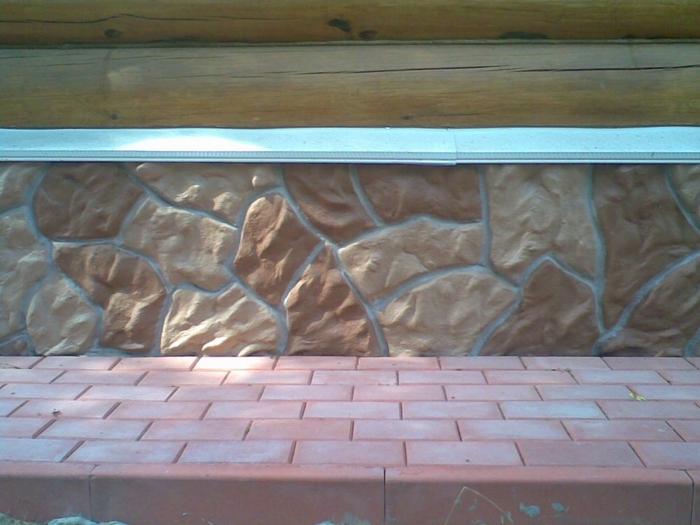 Обшивка цоколя деревянного дома своими руками