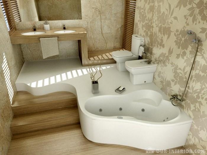 Интересные ванные комнаты фото